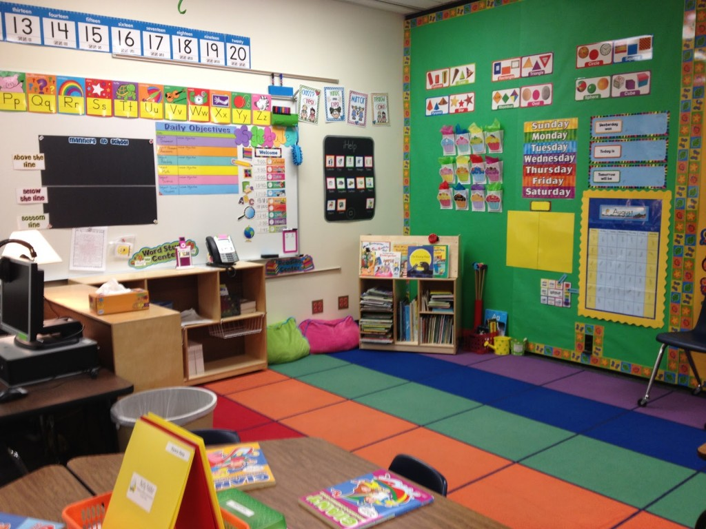 Traditional kindergarten classroom