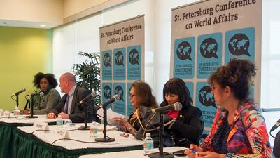 Speaking at St Pete World Affairs Conference