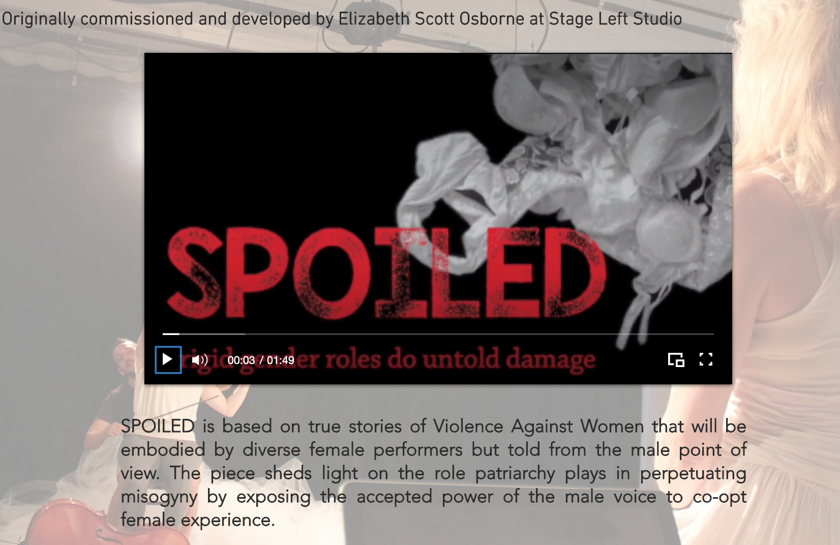 SPOILED  – My Play Lives Again in 2020